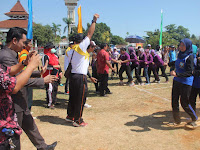 Suasana Kemeriahan Lomba HUT RI Ke 71 Se SKPD Kabupaten Rembang
