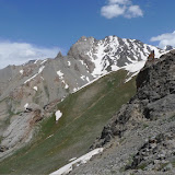 Biotope de Paralasa hades TUZOV, 1993, Agriades pheretiades pherecydes EVERSMANN, 1843, Hissar Mts, Anzob Pass, 3430 m, 28.VII.2009, Tadjikistan. Photo : J.-F. Charmeux