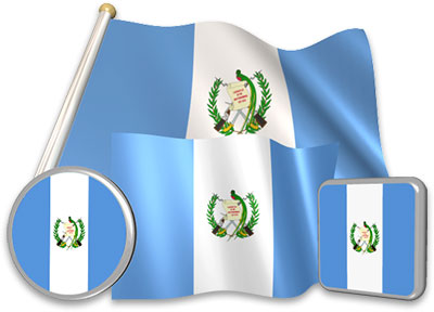 Guatemalan flag animated gif collection