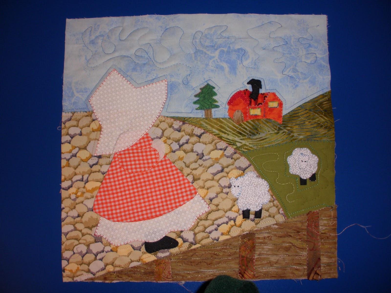 Colcha patchwork de 12 cuadros de mu ecas patchwork - Colchas de patchwork hechas a mano ...