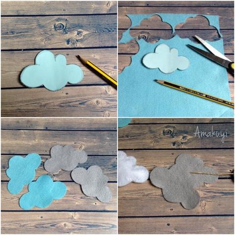 Guirnalda-fieltro-nubes-decoración-niños