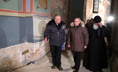 Vladimir Putin at St. George's Cathedral