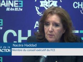 Vidéo/ Nacéra Haddad, vice présidente du FCE : « L'essentiel est de mettre l'intelligence aux postes de commande et se mettre au travail »