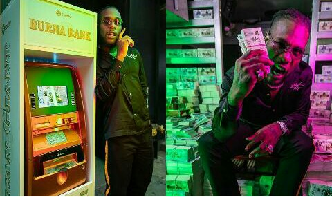 Popular Nigerian Singer, Burna Boy Launches Own Bank In New York (Photos)