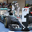 Lewis Hamilton's victory pose