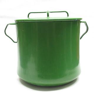 Dansk Kobenstyle 1970s Enamelware Pot