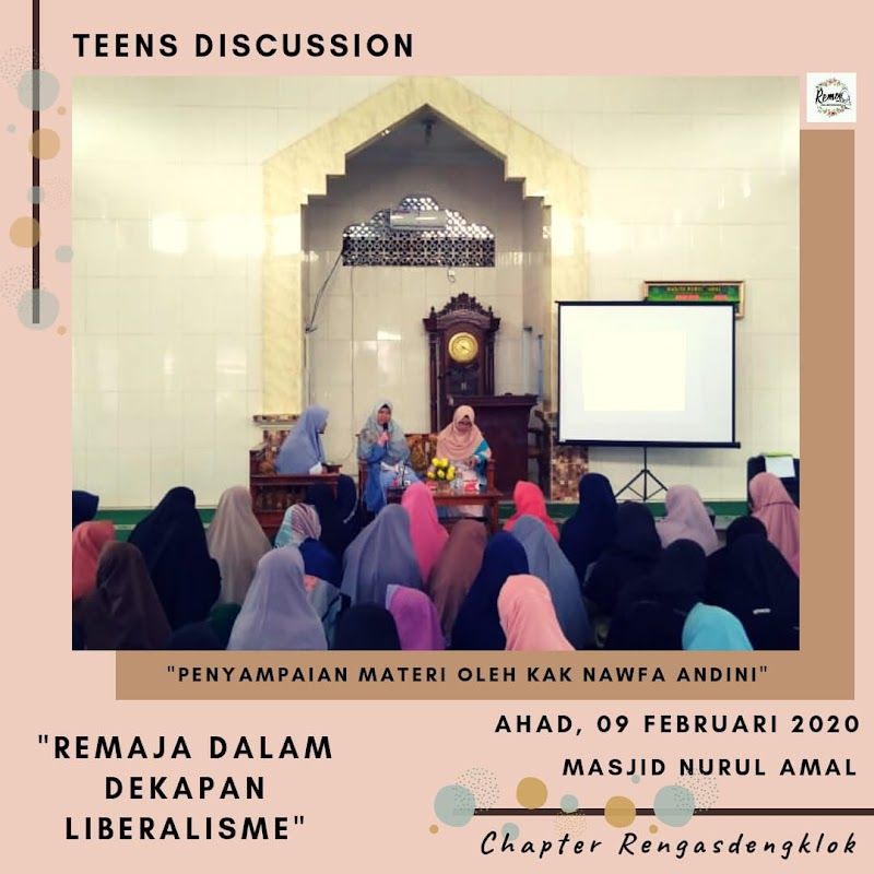 Komunitas Remaja Move On Chapter Rengasdengklok Teens Discussion : Remaja Dalam Dekapan Liberalisme
