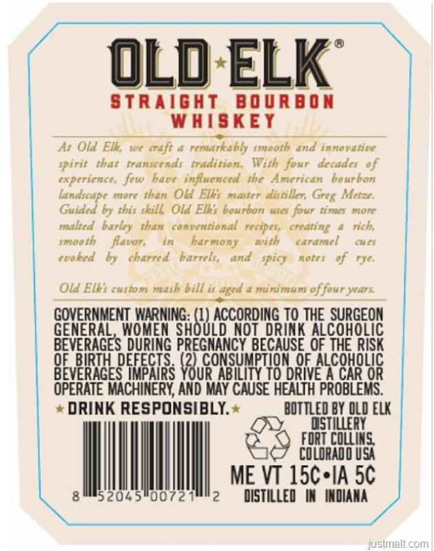 Old Elk Distilling Cask Strength Straight Bourbon Whiskey