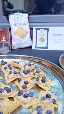 Blueberry Avocado Salmon Mousse by Eastburn to accompany Food Should Taste Good The Works! Tortilla chips
