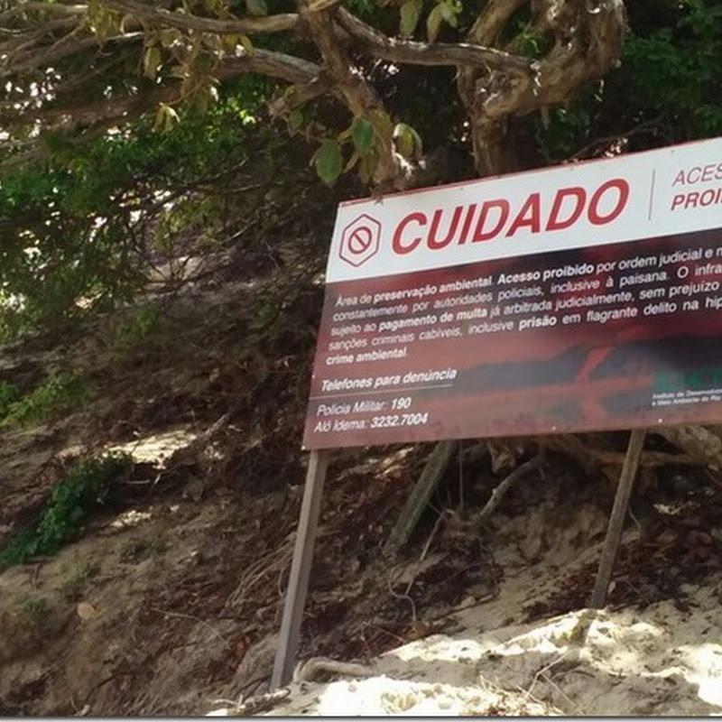 Após banhistas invadirem, fiscalização é reforçada no Morro do Careca