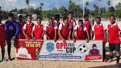 Babak Penyisihan Turnamen OPD Cup 2021, Setwan DPRD Buteng Tumbangkan Lawanya