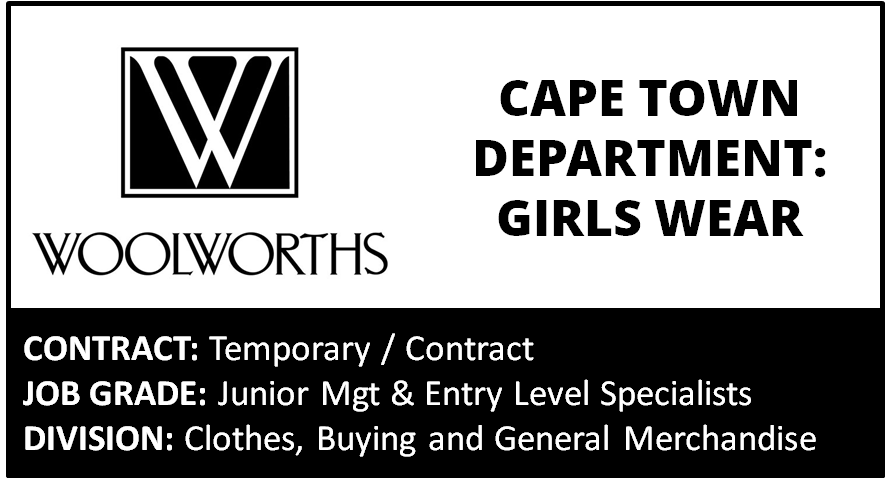 Retail Jobs in Cape Town on Job Mail. Browse through all the sub-industry jobs in Cape Town advertised under Retail on Job Mail. Who's HIRING! See all; 36 Results under Retail in Cape Town Setup Alert. Manager. FULL TIME Cape Town Posted Minutes ago. Posted.