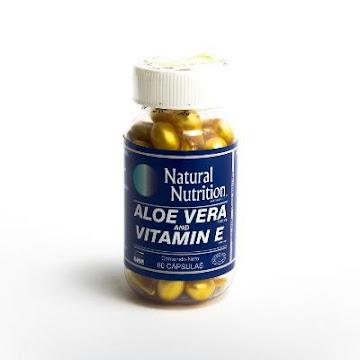 Aloe Vera Vitamina E   Natural Nutrition 100Ui Cápsulas Frasco X60Cap.
