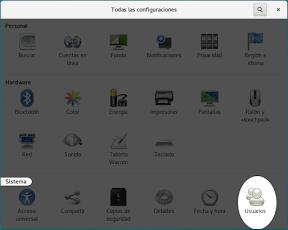 Configurar el sistema. Accesibilidad en Linux y otros. Usuarios.