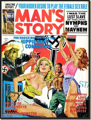 MAN'S STORY, April 1974, Xmas spoof (Norm Eastman art) REV2