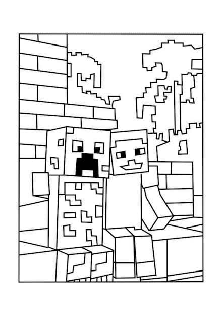 Minecraft Creeper And Pal