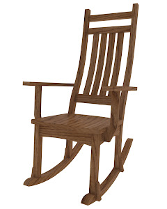 Trestle Mission Rocking Chair