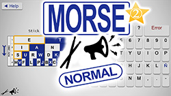 Morse code virtual machine keyboard NORMAL