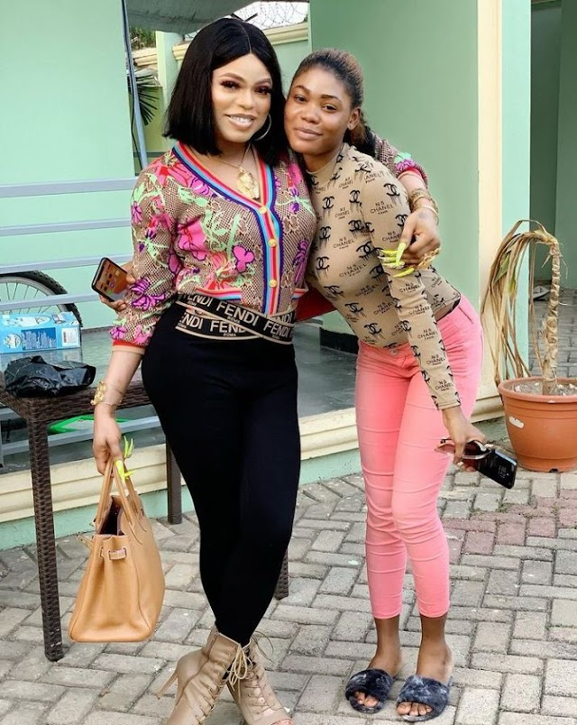I don't know her from anywhere – Bobrisky says as he adopts new daughter (Photo)