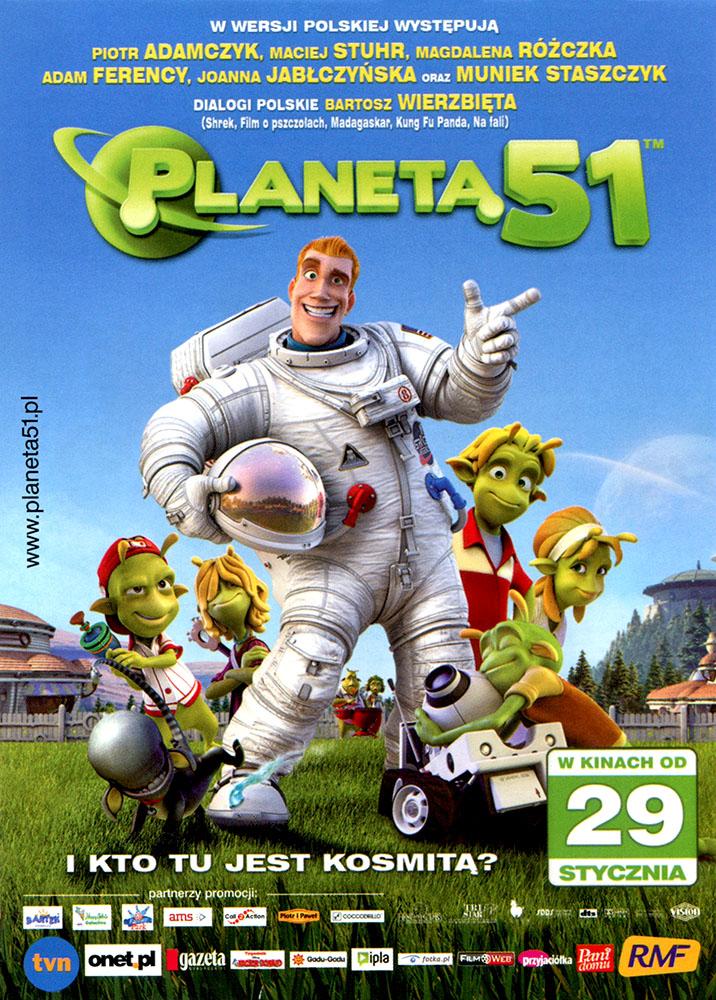 Ulotka filmu 'Planeta 51 (przód - wersja C)'