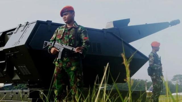 Rudal Canggih Paskhas TNI AU Tembak Pesawat Pembom Musuh di Makassar