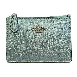Coach MINT Metallic Blue Card Wallet