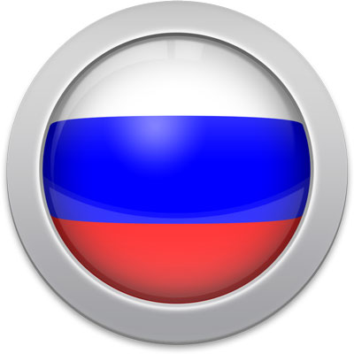 Russian flag icon with a silver frame
