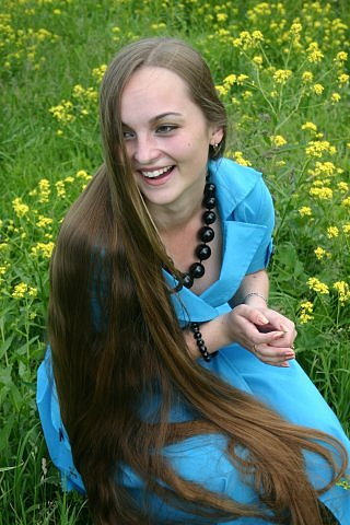 girl with very long hair picture