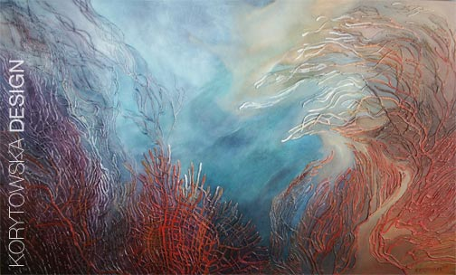 Coral / 30in x 50in / 2012 - $4,200.00