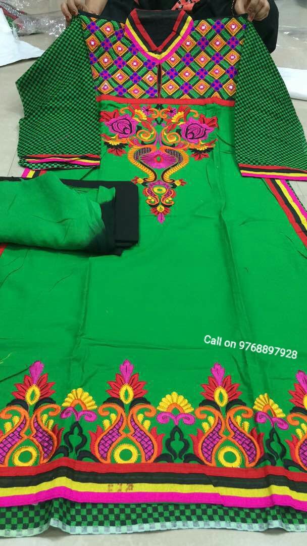 Rajasthani Gota Patti Work Suits Pure Cotton Designer Suits Both