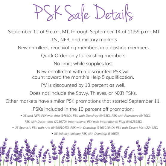 10% off PSK September 2018 More DETAILS