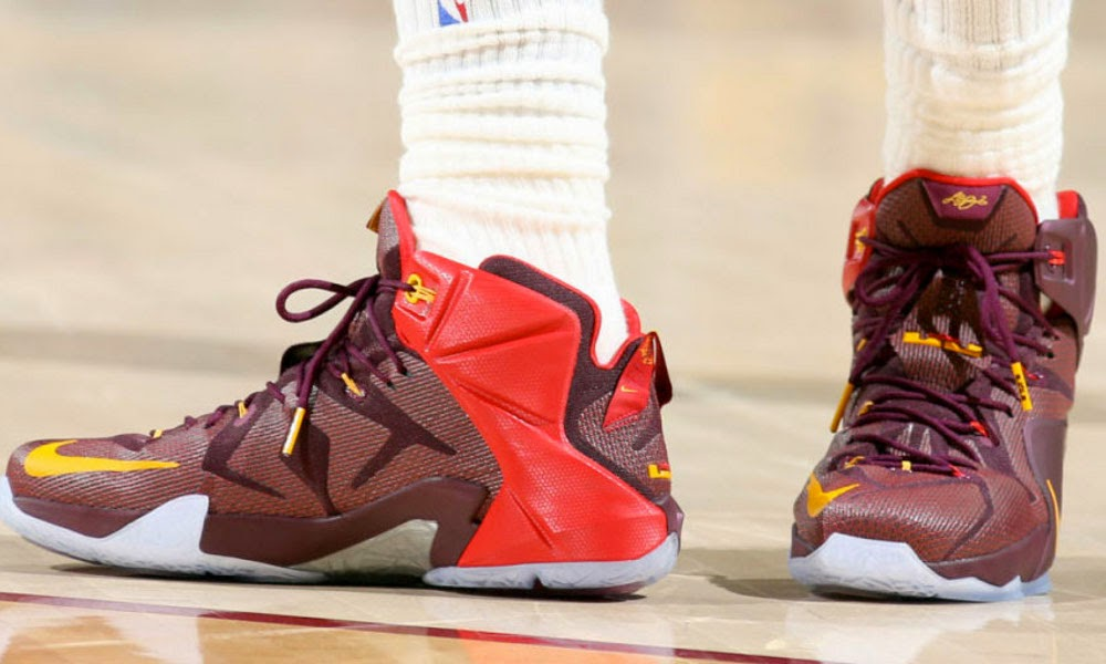 promo code f2f81 96f02 ... Closer Look at King James8217 Nike LeBron 12 8220Double Helix PE8221 ...
