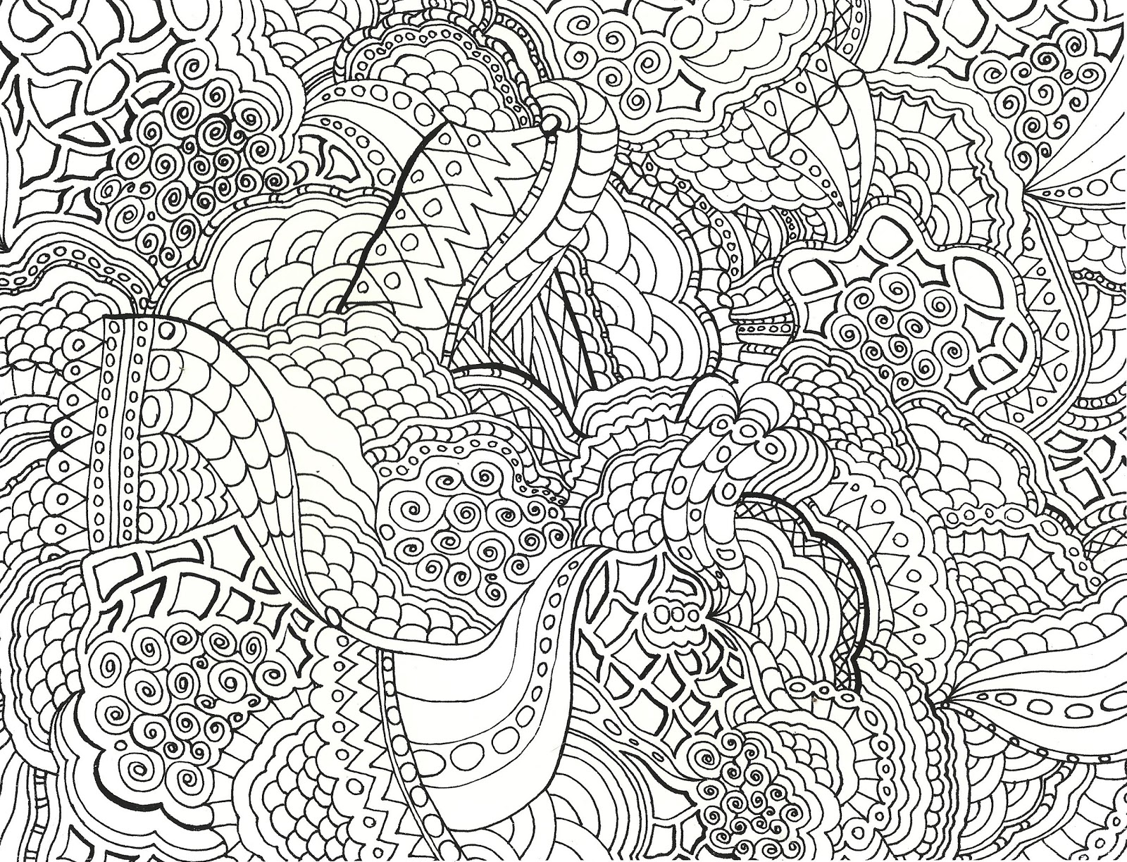 Unicorn - Printable Adult Coloring Page from Favoreads (Coloring ... | 1224x1600
