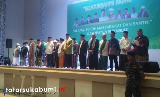 Sukseskan Pemilu 2019 Ribuan Ulama dan Santri Ponpes se-Jabar Gelar Silaturahmi Akbar di Sukabumi
