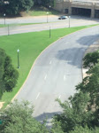 That white X on the road is where it is presumed the fatal shot was experienced