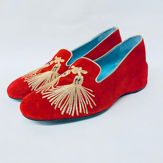 Thierry Rabotin Embroidered Wedge Loafers