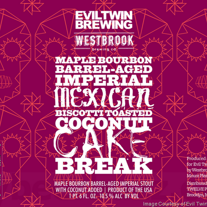 Evil Twin & Westbrook Collaborate On Maple Bourbon Barrel-Aged Imperial Mexican Biscotti Toasted Coconut Cake Break