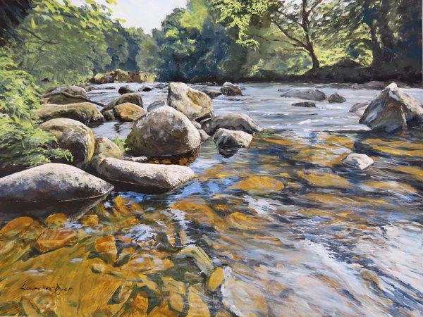River Dart, Devon. Artist Lawrence Dyer