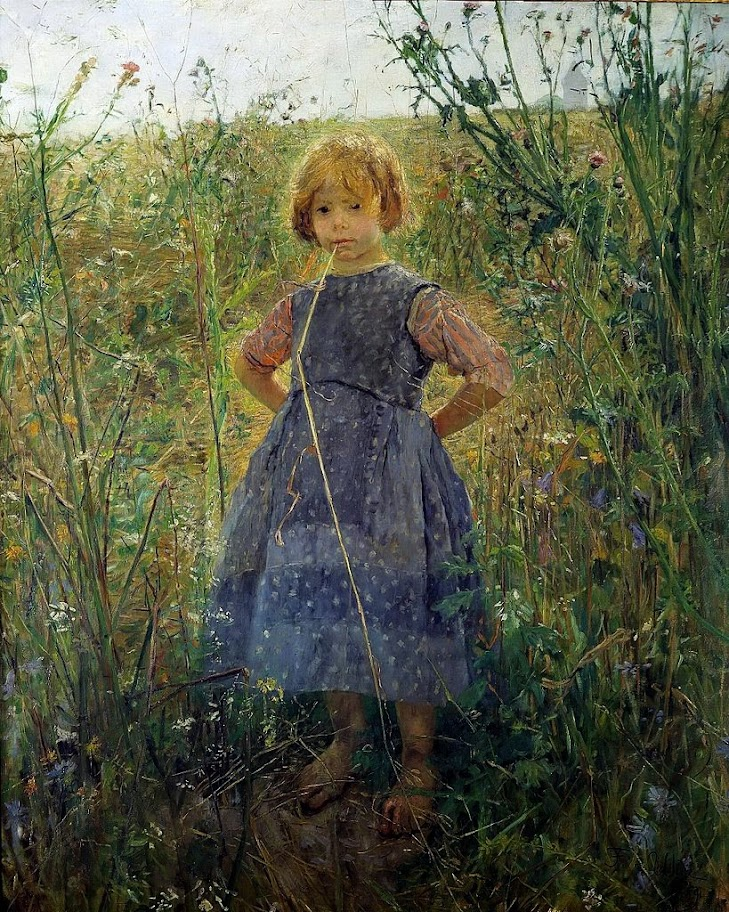 Fritz von Uhde - Little Princess on the heath