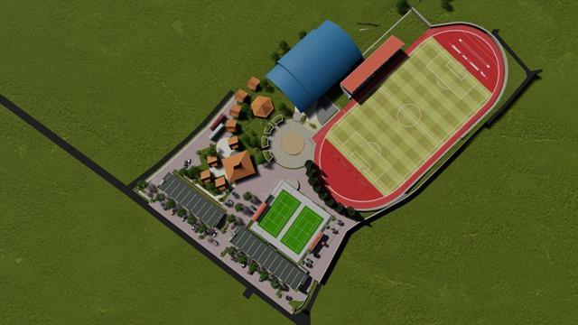 Caturharjo Sport Center (CSC) Tampak Atas