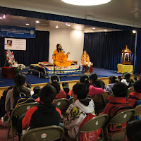 Children's program with Swamiji