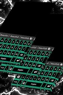 Téma zelené neonové klávesnice - náhled