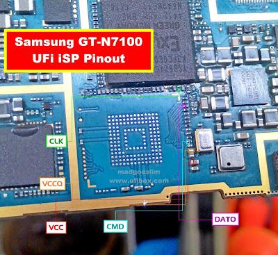 ISP PinOut Samsung GT-N7100