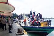 Polsek Kep Seribu Utara Terus Perketat Penerapan Prokes Di Dermaga Kedatangan