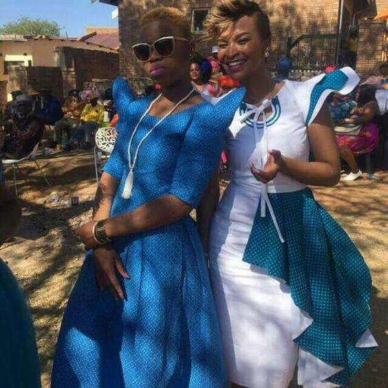Shweshwe 2019 for South Sotho Dresses