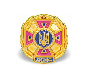 Емблема ДСНС золотистого кольору нового зразку