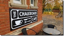 Chalkboard cafe sign s