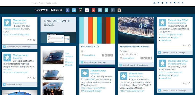 圖四 Maersk Social頁面