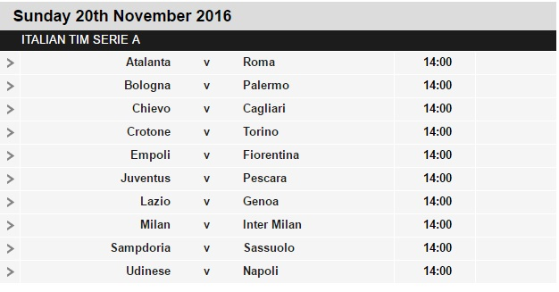 Serie%2BA%2Bschedule%2B13 Planning a Football Trip to Italy - SERIE A FIXTURES 2016/17