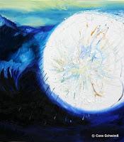 """""""Ich hab den Himmel betreten"""", Öl auf Leinwand, 80x90, 2005"""